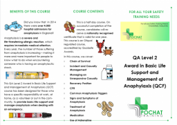 Basic Life Support and Management of Anaphylaxis