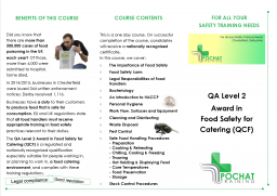 Food Safety / Food Hygiene for Catering