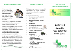 Food Safety / Food Hygiene for Retail