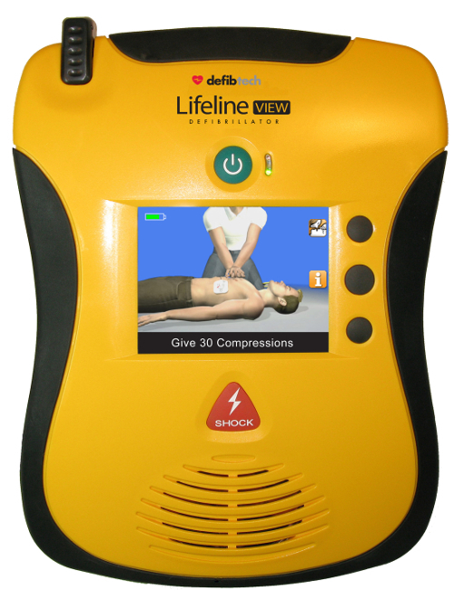 LifeLine VIEW AED video: how to give CPR compressions