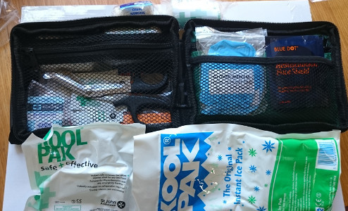 Contents of our Sports First Aid Kit