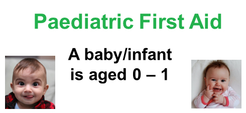 The age of a baby or infant is 0 - 1