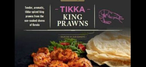 Salmonella has been found in Aldi's Specially Selected Tikka King Prawns