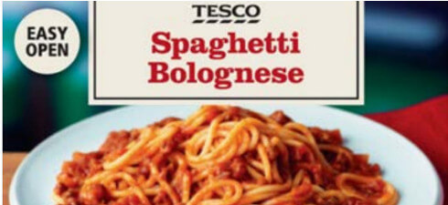 Tesco is recalling their frozen Spaghetti Bolognese due to undeclared allergens