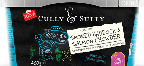 Cully & Sully Smoked Haddock and Salmon Chowder