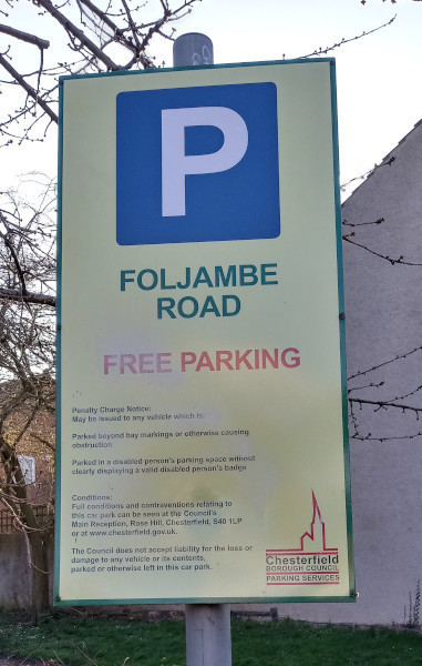 There is free parking available almost next to the Brimington Parish Hall in Foljambe Road Car Park, Foljambe Road, Brimington, Chesterfield S43 1DD